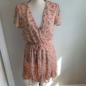 THREE PINK HEARTS FLORAL DRESS